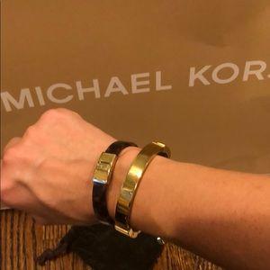 Michael Kors bracelets tortoise / gold tone
